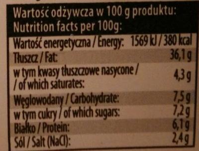 Filety śledziowe w sosie musztardowym - Nutrition facts