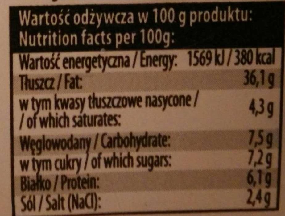 Filety śledziowe w sosie musztardowym - Nutrition facts - en