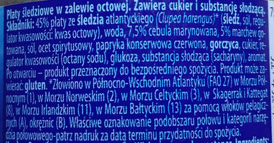 Płaty śledziowe w zalewie octowej - Składniki - pl
