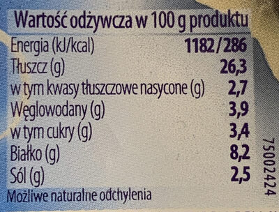 Śledzik na raz - Nutrition facts