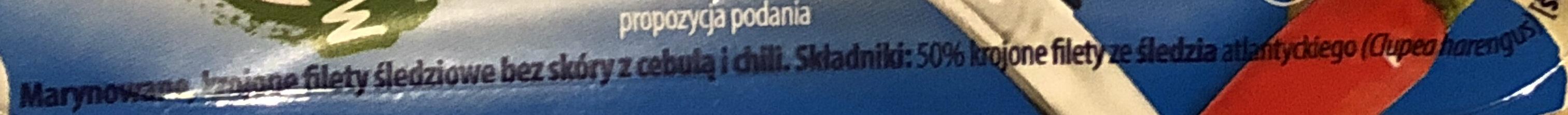 Śledzik na raz Pikantny - Składniki - pl