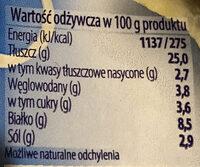 Śledzik na raz Pikantny - Wartości odżywcze - pl