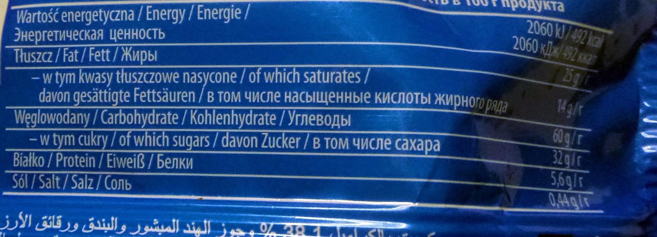 Jeżyki Kokos - Informations nutritionnelles - pl