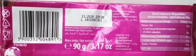 Czekolada gorzka - Wartości odżywcze