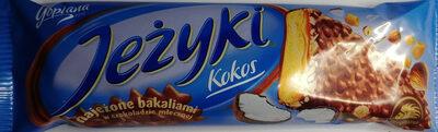 Herbatnik z karmelem 37,3%, wiórkami kokosowymi, orzechami laskowymi i chrupkami ryżowymi w czekoladzie mlecznej. - Produkt - pl
