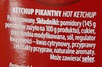Ketchup pikantny - Składniki - pl