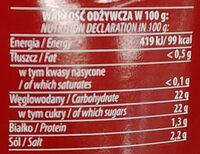 Ketchup pikantny - Wartości odżywcze - pl