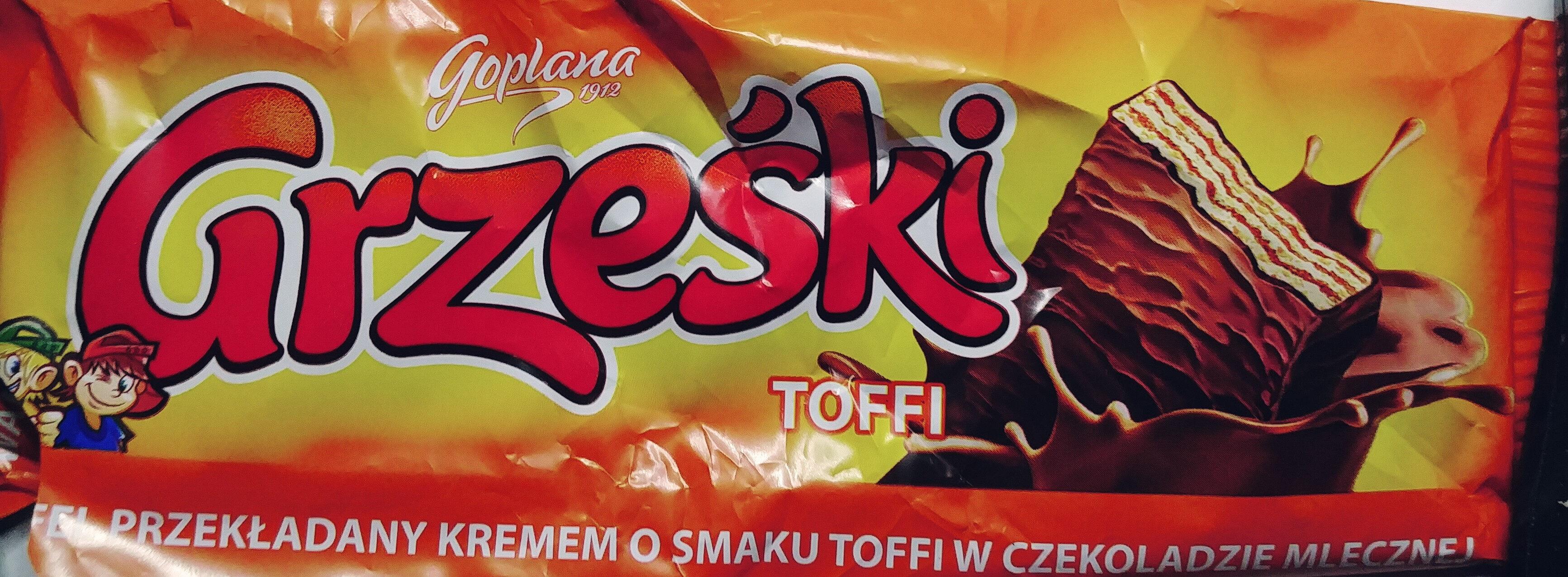 Wafel przekładany kremem o smaku toffi w czekoladzie mlecznej - Product - pl