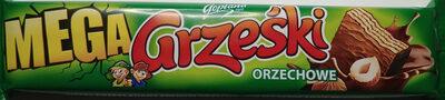 Wafel przekładany kremem orzechowym w czekoladzie mlecznej. - Produkt