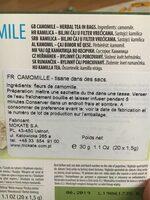 Camomile Matricaria Chamomilla - Nutrition facts - en