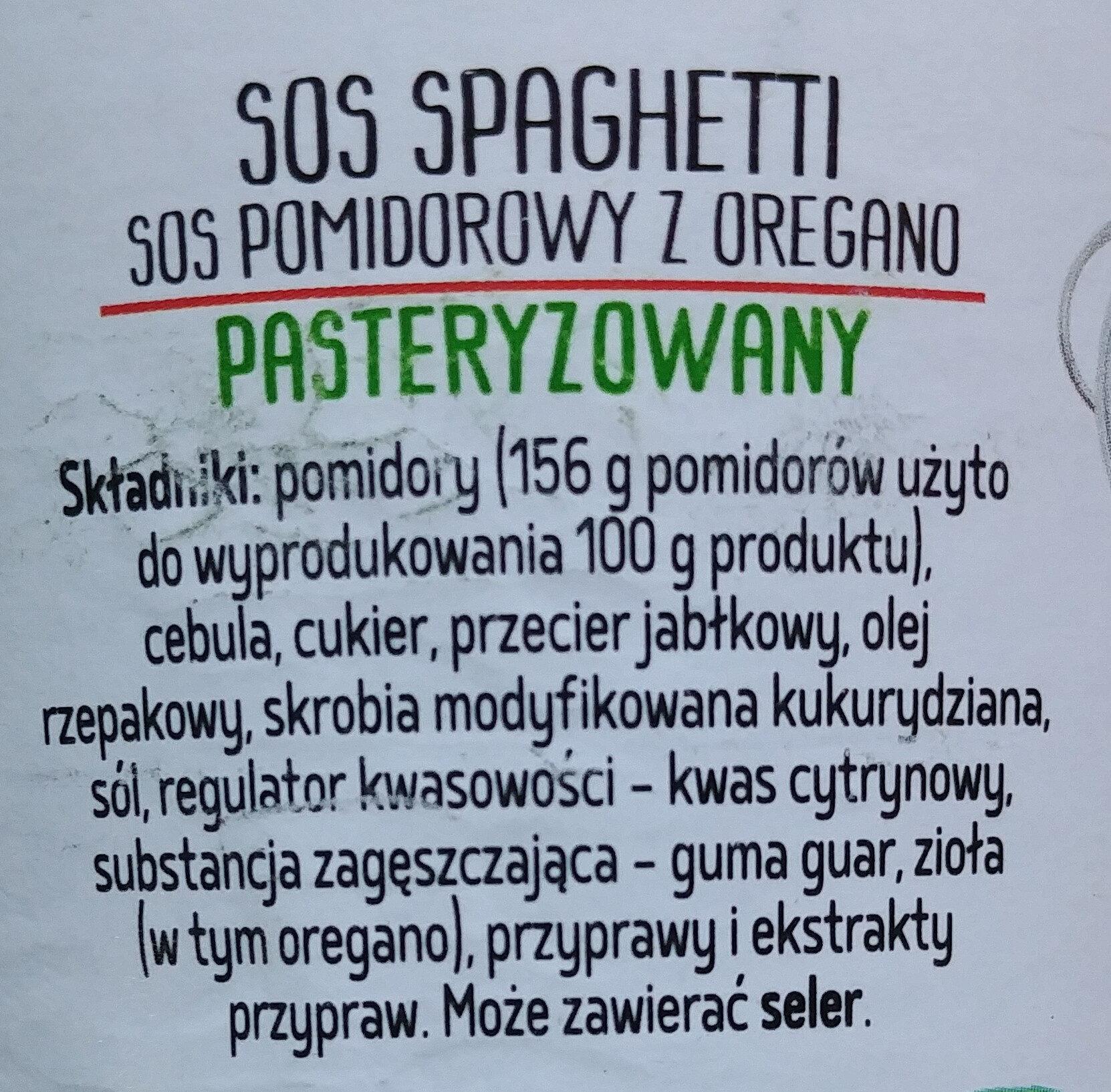 Sos pomidorowy z oregano - Ingredients - pl