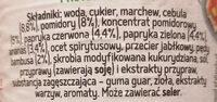 Sos słodko-kwaśny - Ingredients - pl