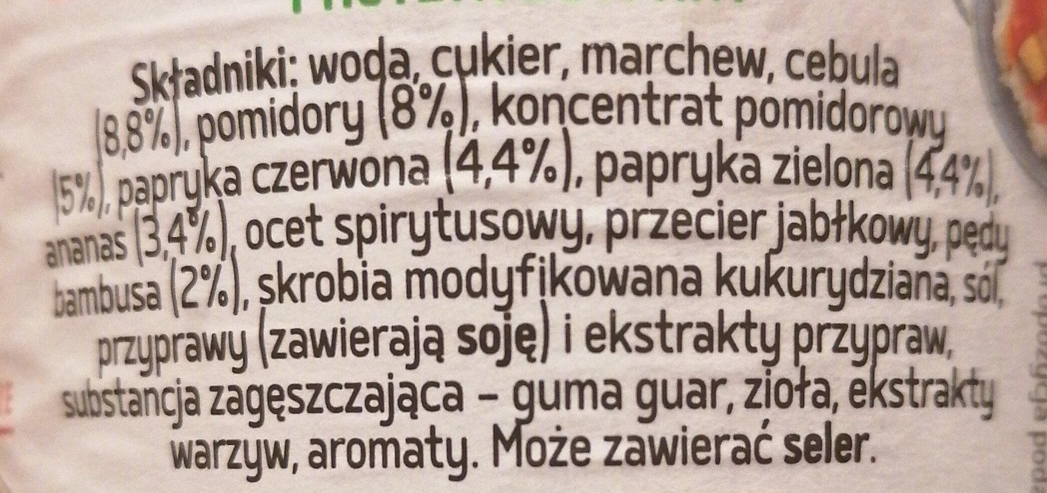 Sos słodko-kwaśny - Składniki - pl