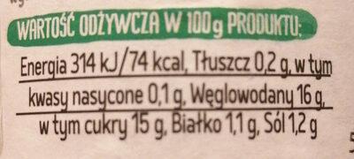Sos słodko-kwaśny - Nutrition facts - pl