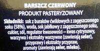 Barszcz czerwony - Ingrédients - pl