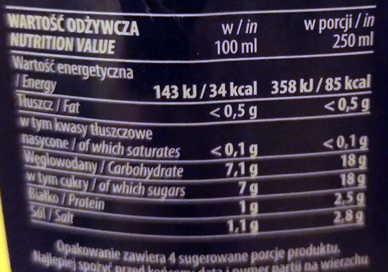 Barszcz czerwony - Informations nutritionnelles - pl