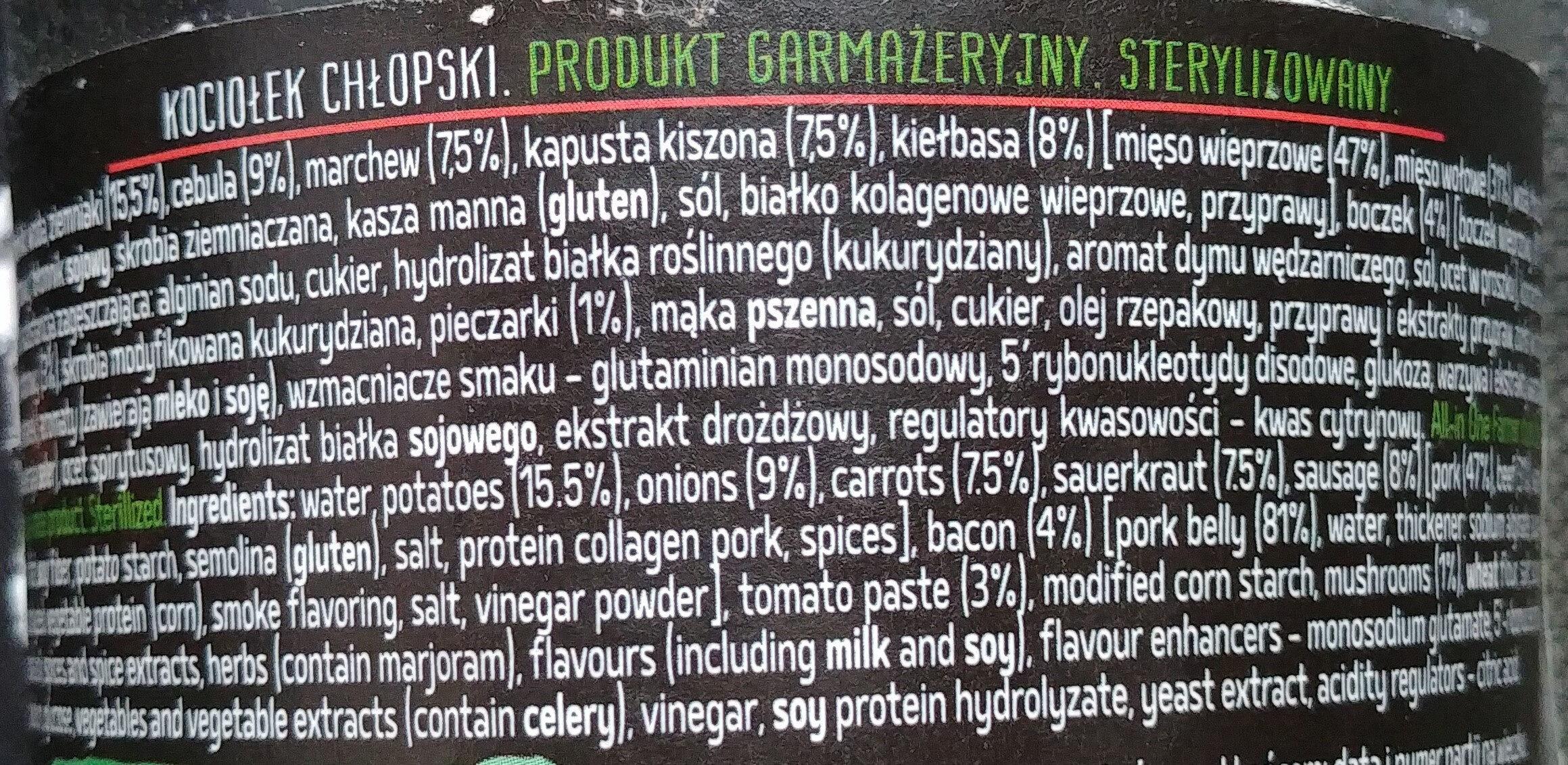 Kociołek chłopski - Ingrédients - pl