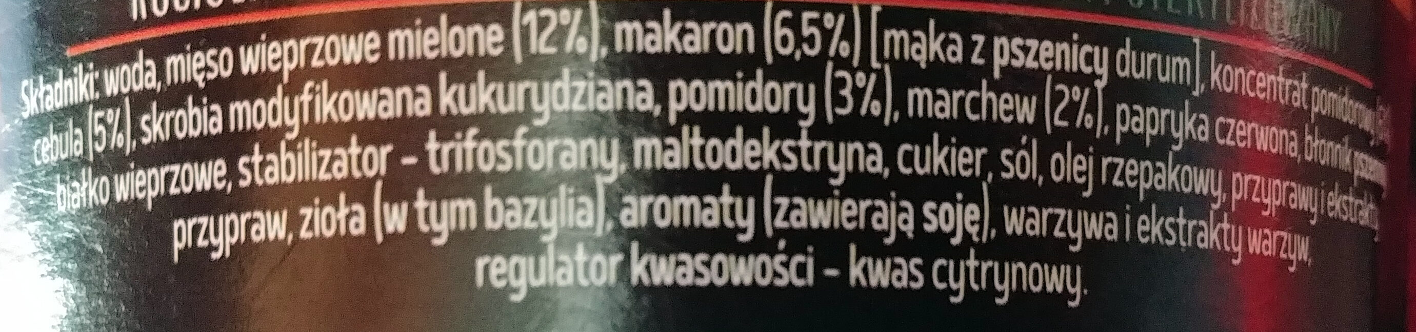 Kociołek Boloński - Składniki - pl