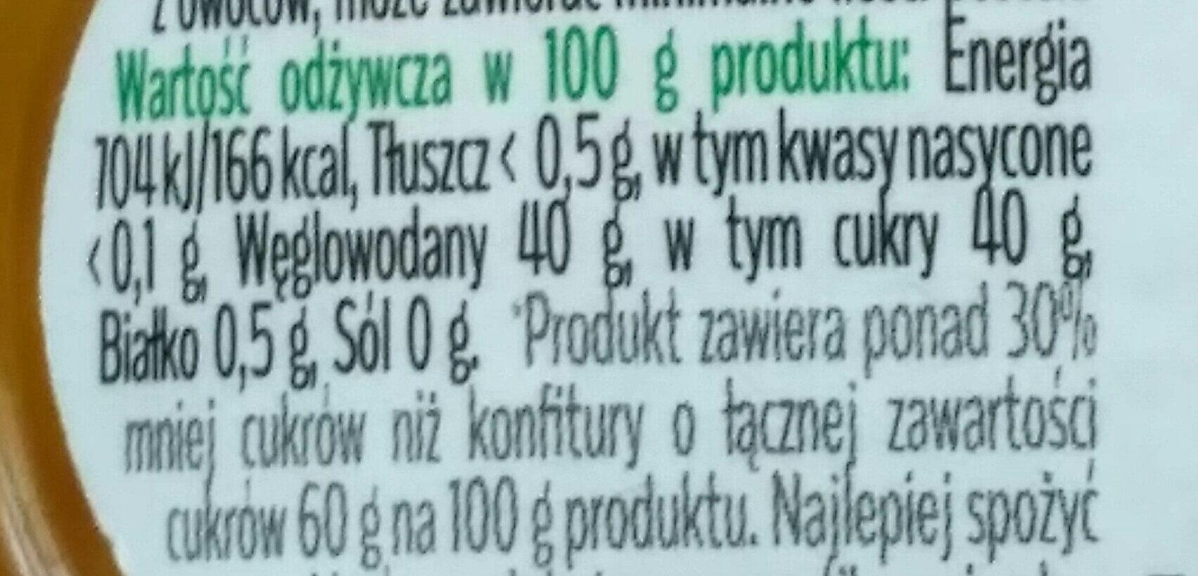 Konfitura z żółtych owoców - Nutrition facts - pl
