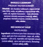 Barszcz czerwony - Składniki - pl