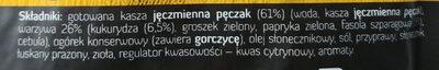 Kasza jęczmienna pęczak z kukurydzą i fasolą szparagową - Składniki - pl