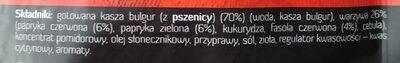 Kasza bulgur z papryką i czerwoną fasolą - Składniki - pl