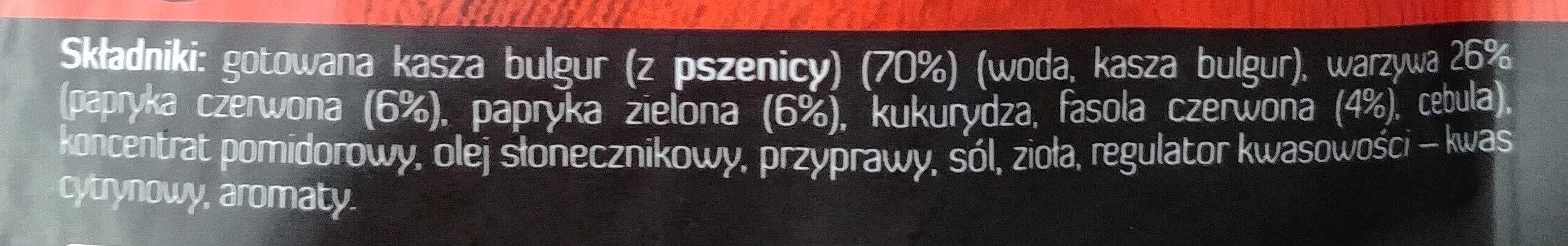 Kasza bulgur z papryką i czerwoną fasolą - Ingredients - pl