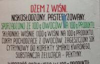 Dżem z wiśni - Składniki - pl