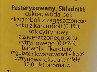 Karambola Cytryna i mięta - Ingredients - pl