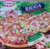 Pizza z szynką i pieczarkami z sosem czosnkowym, głęboko mrożona. - Produkt