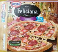 Pizza z szynką, pieczarkami i salami, głęboko mrożona. - Produit - pl
