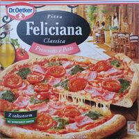 Pizza z szynką i sosem pesto, głęboko mrożona. - Product