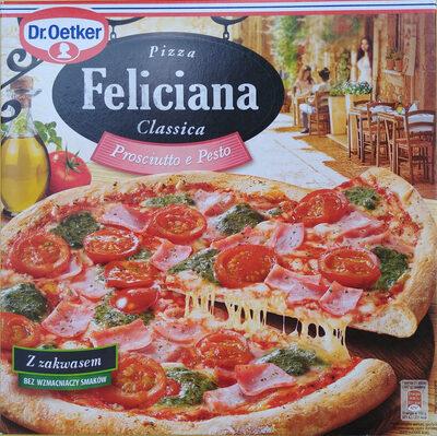 Pizza z szynką i sosem pesto, głęboko mrożona. - Produit - pl