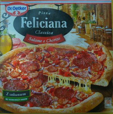 Pizza z salami i chorizo, głęboko mrożona - Product - pl