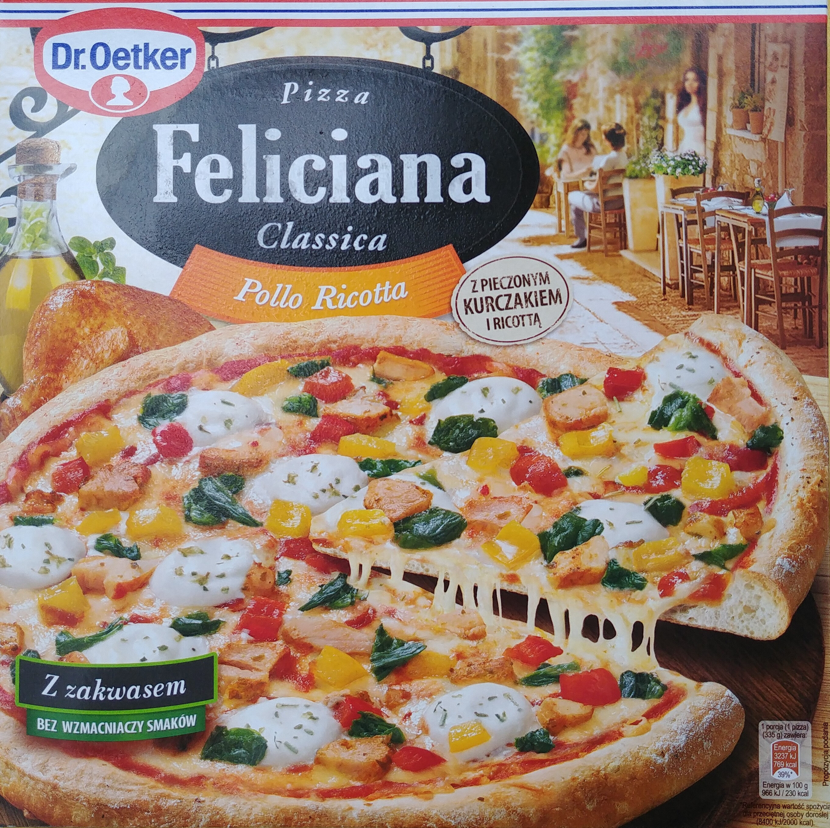 Pizza z pieczonym kurczakiem i serem ricotta, głęboko mrożona. - Product - pl