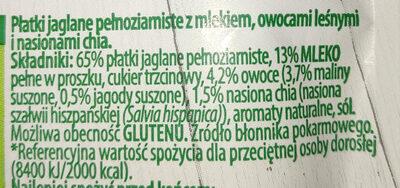 Jaglanka z Chia owoce leśne - Ingredients - pl