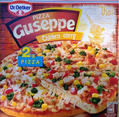 Pizza Guseppe z kurczakiem w przyprawie masala i curry, głęboko mrożona. - Produkt - pl