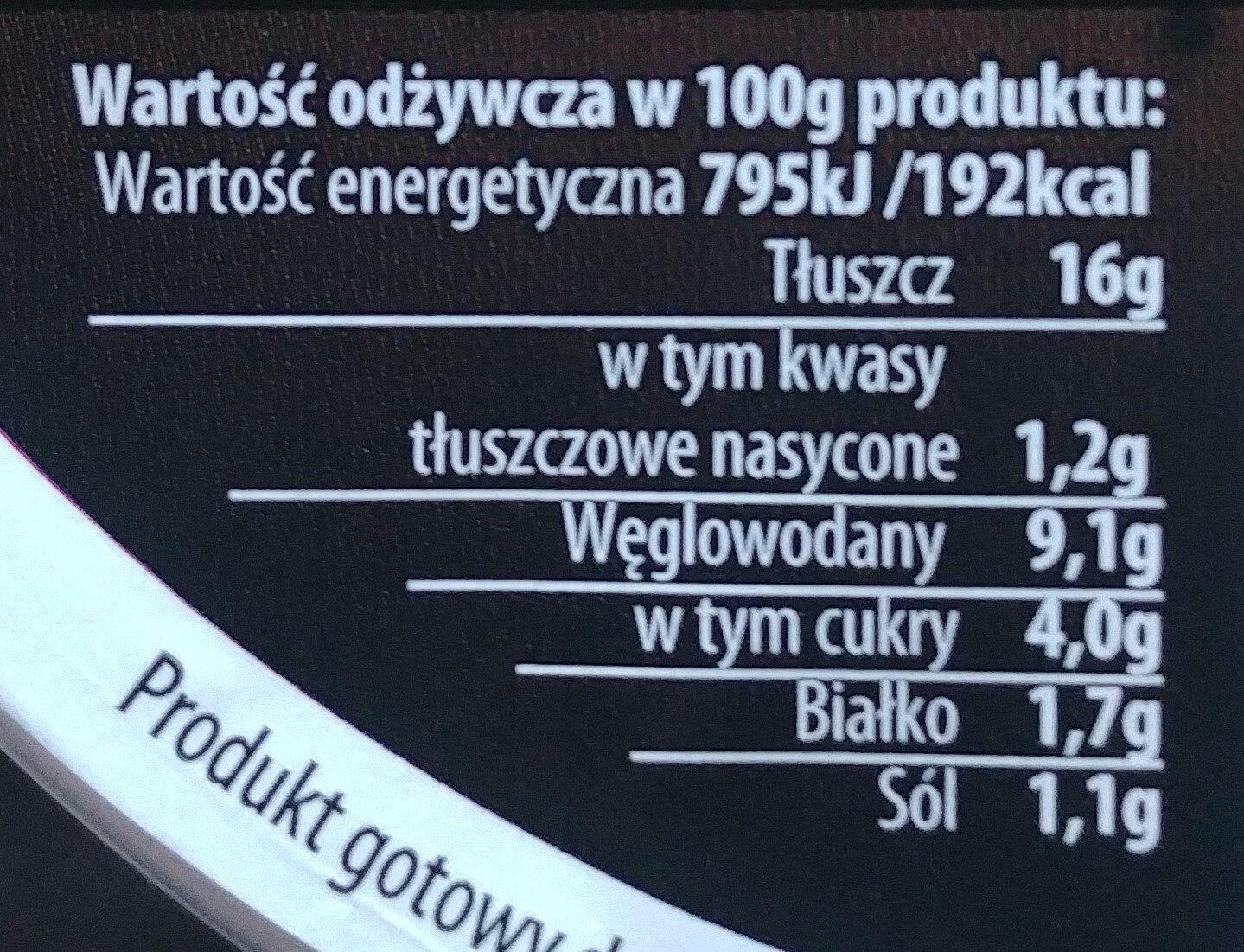 Sałatka jarzynowa - Wartości odżywcze - pl