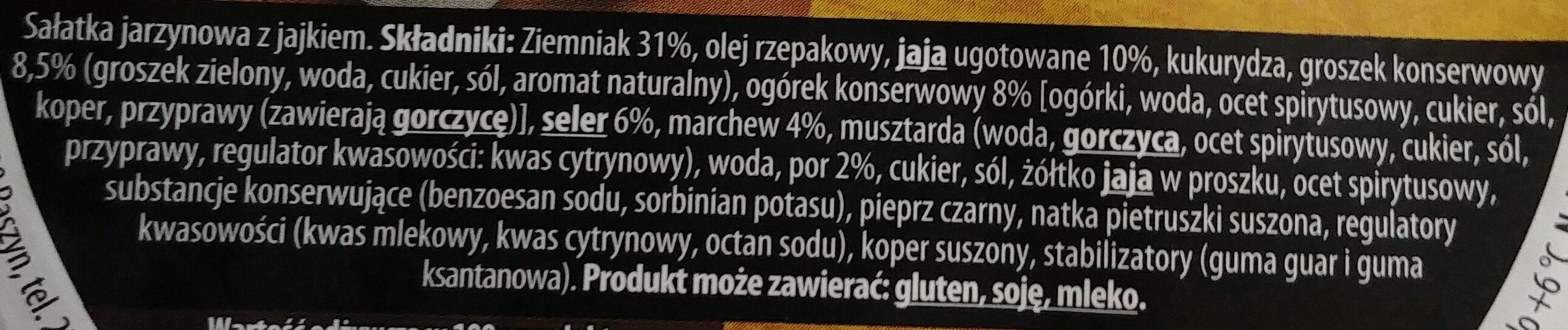 Sałatka jarzynowa z jajkiem - Składniki - pl