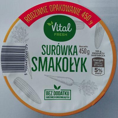 Surówka z białej kapusty z kukurydzą, marchewką i porem w sosie własnym - Produkt - pl