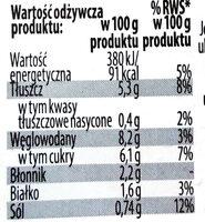Surówka z białej kapusty z kukurydzą, marchewką i porem w sosie własnym - Wartości odżywcze - pl
