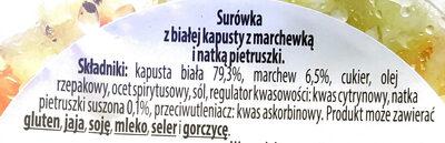 Surówka z białej kapusty z marchewką i natką pietruszki - Składniki - pl