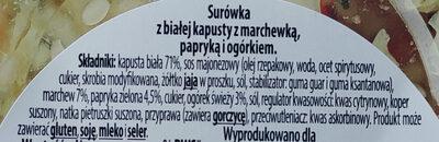 Surówka z białej kapusty - Ingredients - pl