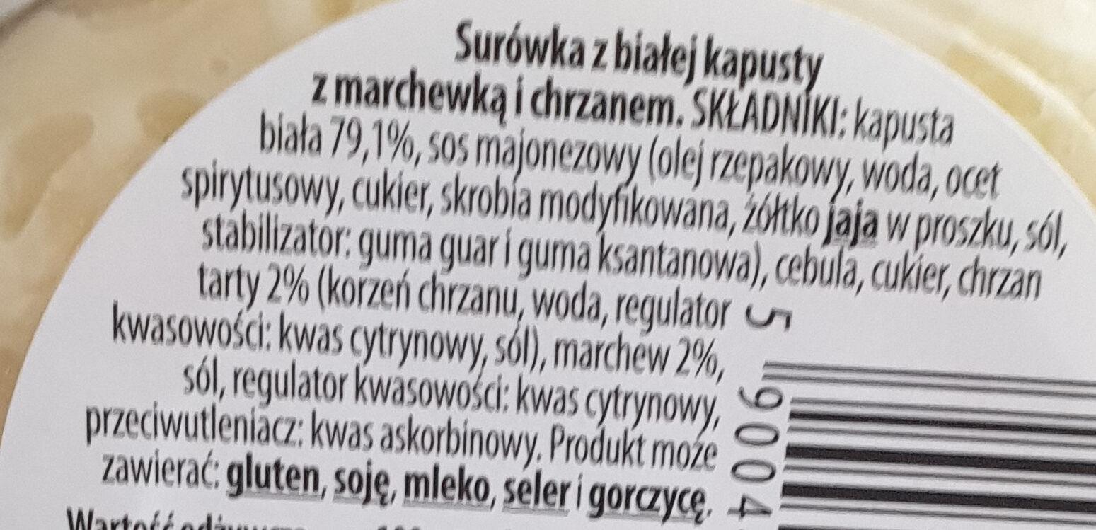 Surówka Colesław - Składniki - pl