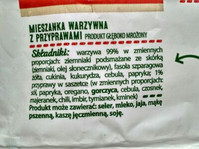 Warzywa na patelnię z ziołami i papryką - Składniki - pl