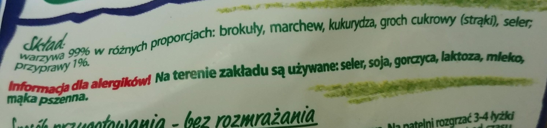 Warzywa na patelnię - Składniki