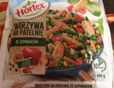Warzywa na patelnię ze szpinakiem - Produkt - pl