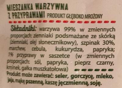 Warzywa na patelnię ze szpinakiem - Składniki - pl
