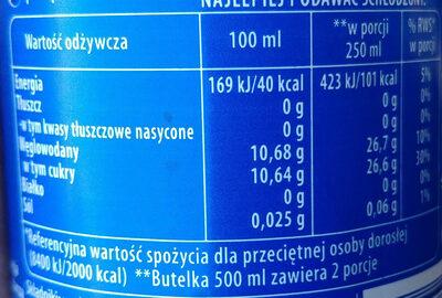 Pepsi - Informations nutritionnelles - pl