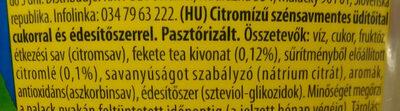Citromos ice tea - Ingredients - hu